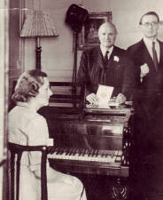 Natalia Karp, Captain Broadwood (of the piano firm) and Arthur Hedley at 99 Eaton Place