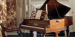 Chopin's own Pleyel piano, now in the Cobbe Collection at Hatchlands Park